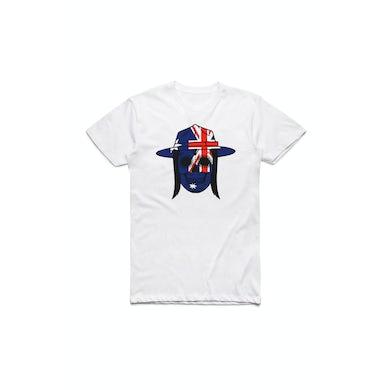 Tyga White Skull Aussie Tshirt