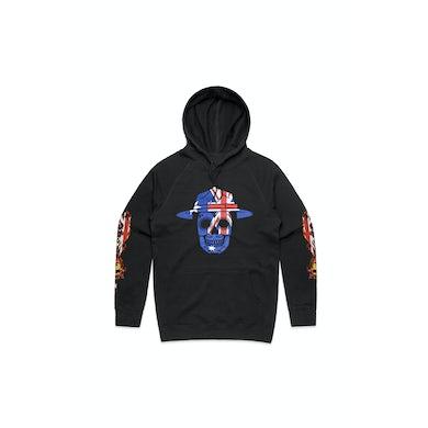 Aussie Skull Black Hoodie