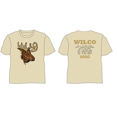 Wilco Moose Tan Tshirt 2010 Tour