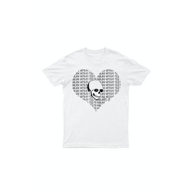 Heart Skull White Tshirt