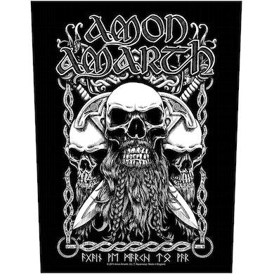 AMON AMARTH - 'Bearded Skull' Back Patch