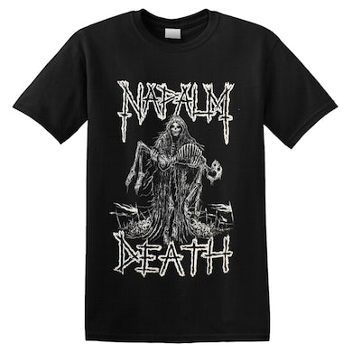 NAPALM DEATH - 'Reaper' T-Shirt White Ink