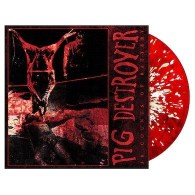 PIG DESTROYER - '38 Counts Of Battery' Blood Red LP (Vinyl)