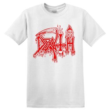 DEATH - 'Classic Logo' T-Shirt White