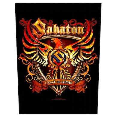 SABATON - 'Coat Of Arms' Back Patch