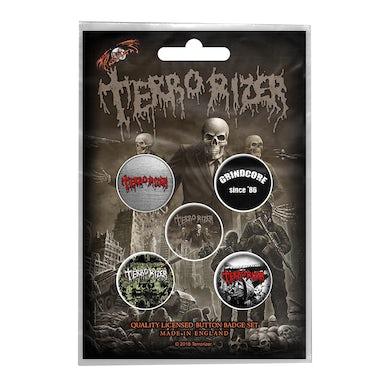 TERRORIZER - 'Caustic Attack' Badge Set