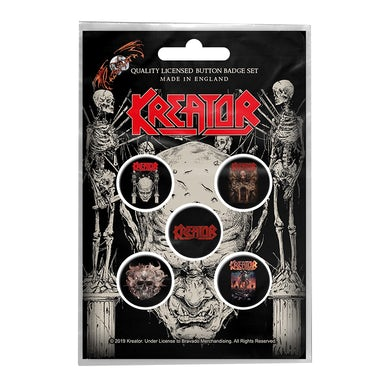 KREATOR - 'Skull & Skeletons' Badge Set