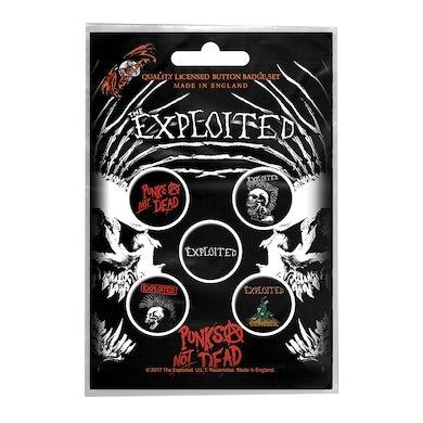 THE EXPLOITED - 'Punks Not Dead' Badge Set