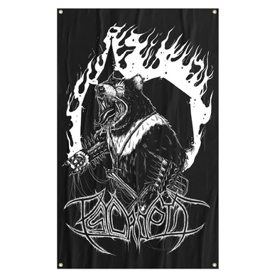 PSYCROPTIC - 'Black Metal' Flag