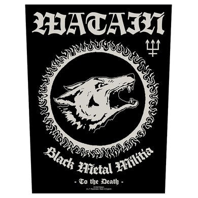 WATAIN - 'Black Metal Militia' Back Patch