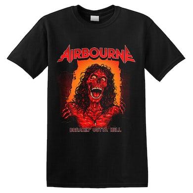 AIRBOURNE - 'Breakin' Outta Hell  Skeleton' T-Shirt