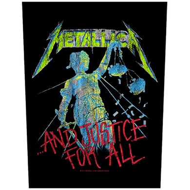 METALLICA - '...And Justice For All' Back Patch
