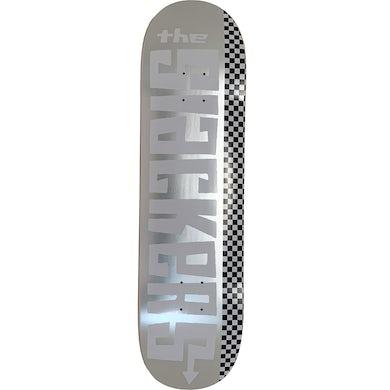 Text Logo on Silver Foil - Skateboard Deck