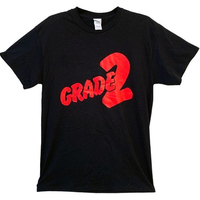 Grade 2 - Red Logo - Black - T-Shirt