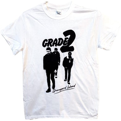 Grade 2 - Graveyard Island (Silhouette) - White - T-Shirt