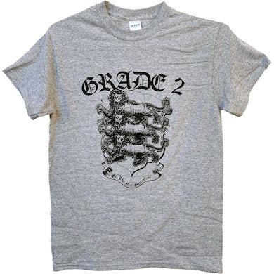 Grade 2 - Three Lions - Grey - T-Shirt