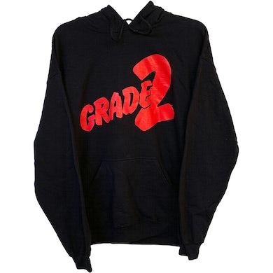 Grade 2 - Red Logo - Black - Hooded Sweatshirt