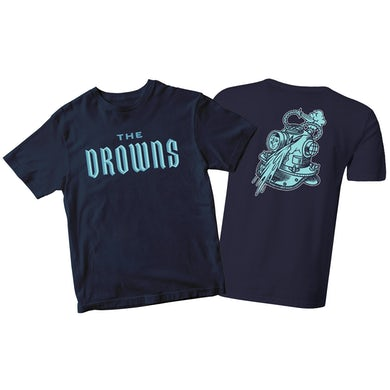 The Drowns - Team Colors - Blue on Navy - T-Shirt
