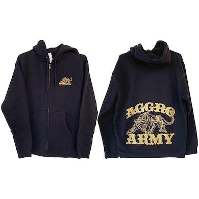 The Aggrolites - Aggro Army - Black - Zip-Up Hoodie