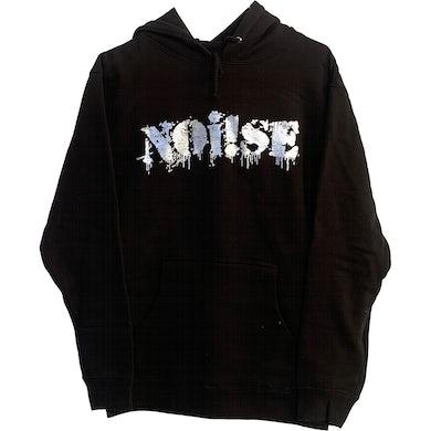 NOi!SE - Logo - Silver on Black - Hooded Sweatshirt