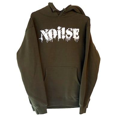 NOi!SE - Logo - White On Green - Hooded Sweatshirt