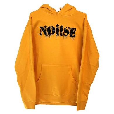 NOi!SE - Logo - Black On Yellow - Hooded Sweatshirt