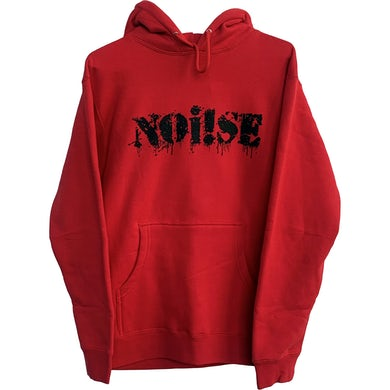NOi!SE - Logo - Black On Red - Hooded Sweatshirt
