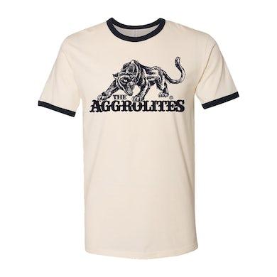 Aggropanther - Natural & Navy Blue Ringer - T-Shirt