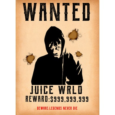 Juice WRLD 999 Wanted Poster
