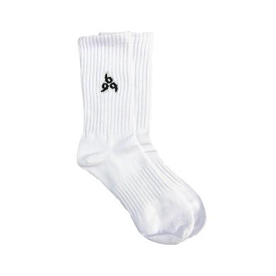Juice WRLD 999 Embroidered Socks in White