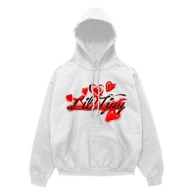 Lil Tjay Your Love Hoodie White