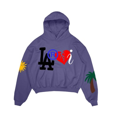 The Kid Laroi Laroi Family Hoodie Purple