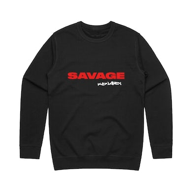 The Kid Laroi Savage Crewneck Black