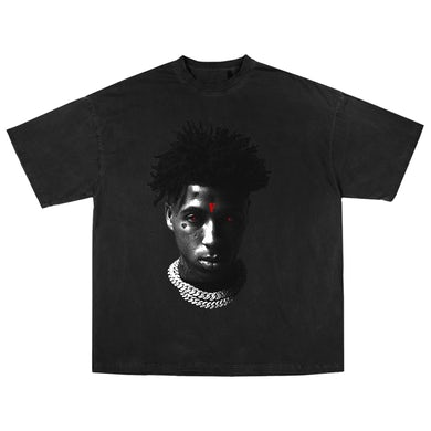 YoungBoy Never Broke Again YoungBoy NBA X VLONE Reaper's Child Tee in Black