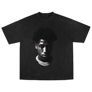 YoungBoy Never Broke Again YoungBoy NBA X VLONE Reaper's Child Tee in Black + Digital Album