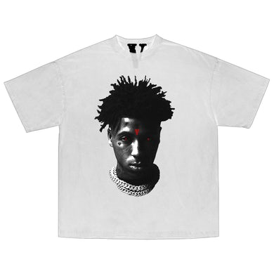YoungBoy Never Broke Again YoungBoy NBA X VLONE Reaper's Child Tee in White + Digital Album