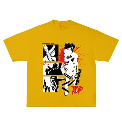 YoungBoy Never Broke Again YoungBoy NBA X VLONE House Arrest Tee in Yellow