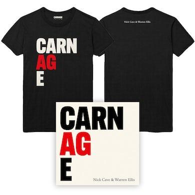 Nick Cave / Warren Ellis CARNAGE Black Tee & Album Bundle