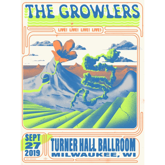 The Growlers Limited Edition 9/27/2019 Milwaukee, WI Poster