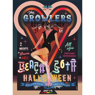 The Growlers Limited Edition Beach Goth 2019 Hollywood, CA Poster