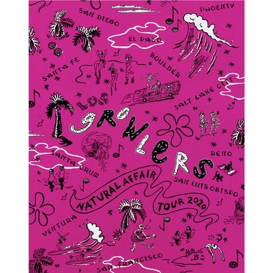 The Growlers Limited Edition Spring Tour 2020 Poster (Pink)