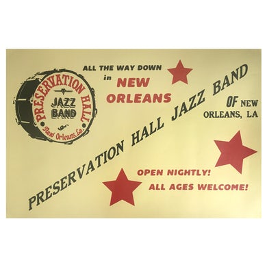 Preservation Hall Jazz Band Yellow/Red Poster