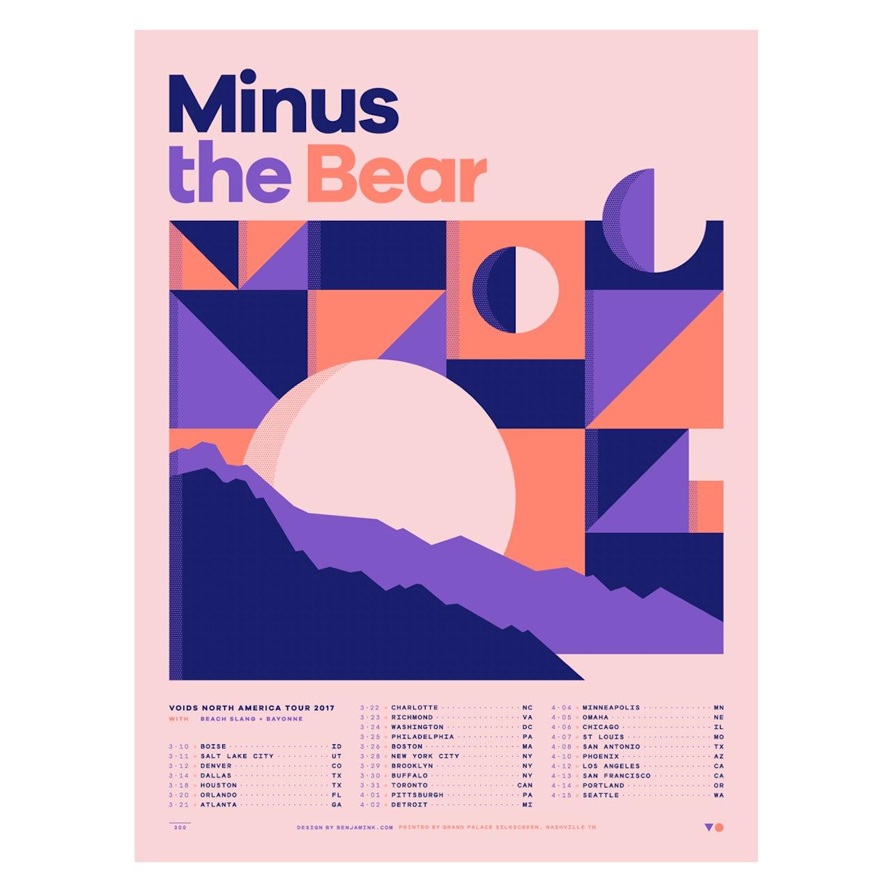 Minus The Bear Spring 2017 Tour Poster