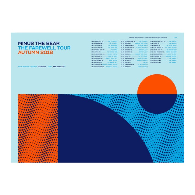 Minus The Bear Farwell Tour VIP Poster