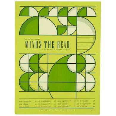 Minus The Bear Menos El Oso 10 Year Anniversary Tour Poster - Green