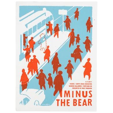 Minus The Bear Portland, OR - 06/17/11 Tour Poster
