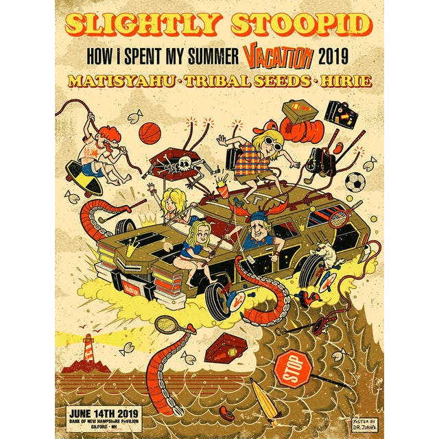 Slightly Stoopid Gilford, NH - 6/14/19 Show Poster
