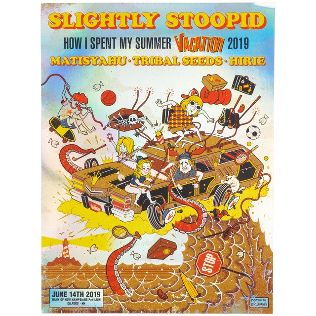 Slightly Stoopid Gilford, NH - 6/14/19 FOIL Show Poster