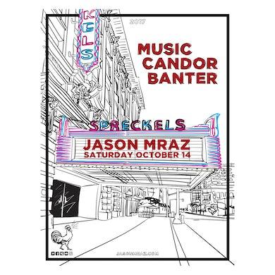 Jason Mraz Spreckels Theatre Poster