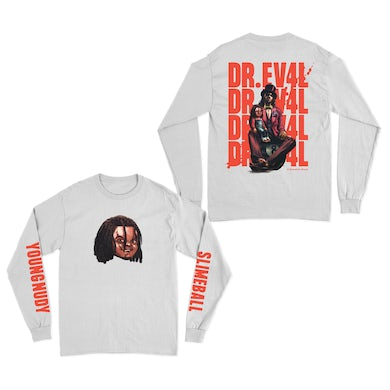 Young Nudy Chucky White Long Sleeve